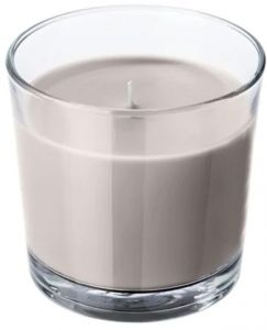 Scented Candle In Glass Nutmeg And Vanilla Grey