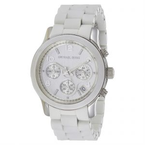 ff0d316df504b Michael Kors Men s White Dial Ceramic Band Watch - MK5423