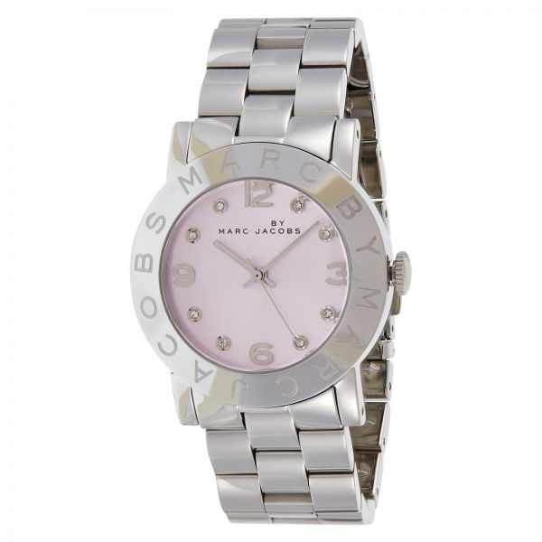 e7847f82b0045 Marc by Marc Jacobs Women s Pink Dial Stainless Steel Band Watch - MBM3300