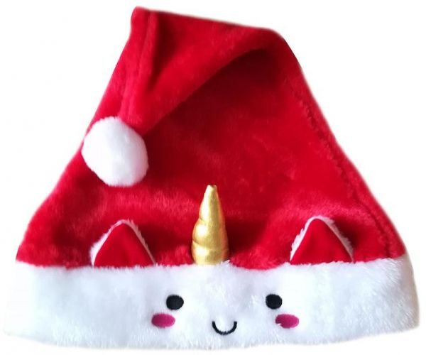 4df0985e20103 Unicorn Christmas hat High-end Santa hat Christmas Party Gift Decoration  Dense Velvet Plush Adult hat Super Soft Thickening