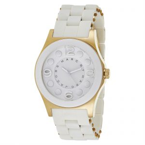 89eae6cf1a4f0 Marc by Marc Jacobs Women s White Dial Silicone Band Watch - MBM2500