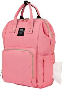 Heine Diaper Bag Baby Backpack with Thermo Bottle Storage Pocket Side  Tissue Outlet Anti-Theft Back Space for Mom - Pink 5e8a2213258b1