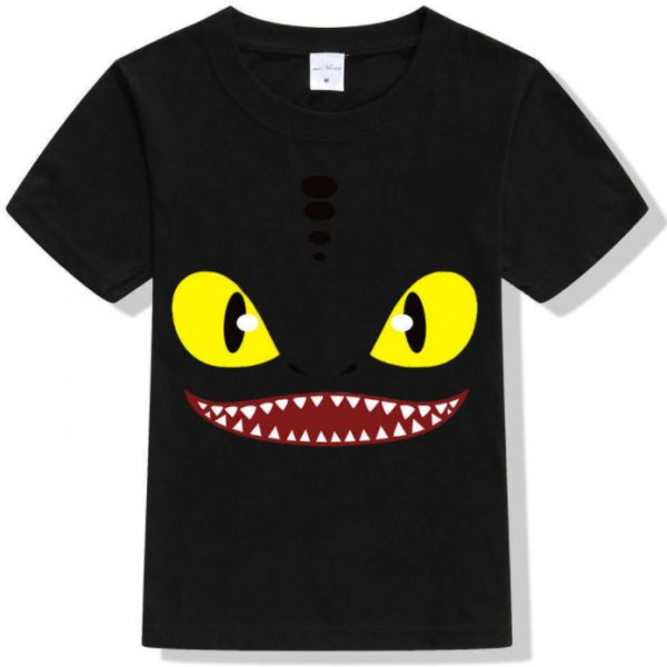 5c8af785418 Stylish casual Children summer black T-Shirts little monster eyes printed  cotton t-shirt for boys and girls