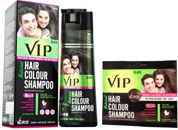 ddd2a515bf VIP Hair Color Shampoo Value Pack for Men   Women - Easy application ...