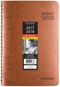 at a glance academic weekly monthly planner july 2017 june 2018