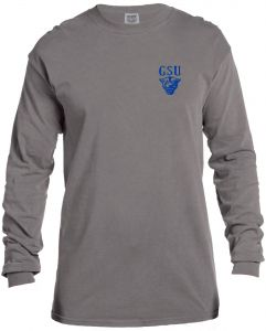 4c740a18 NCAA Georgia State Panthers Vintage Poster Comfort Color Long Sleeve T-Shirt,  XX-Large,Grey