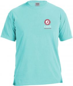 b51b64e9 NCAA Alabama Crimson Tide Life Is Better Comfort Color Short Sleeve T-Shirt,  Island Reef,Large