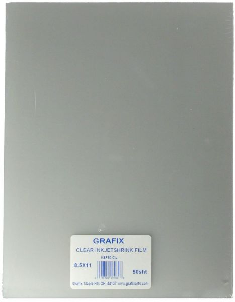 picture about Printable Shrink Film identified as Grafix KSF50-CIJ 8-1/2-Inch via 11-Inch Shrink Motion picture, Printable, Obvious Inkjet, 50-Pack