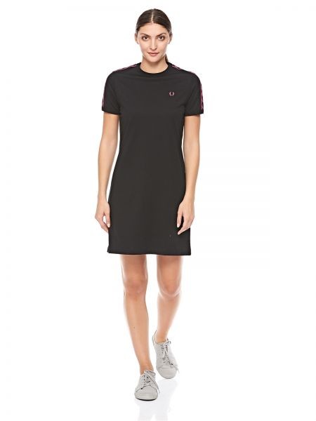 5623f9c1aa51 Fred Perry Taped Ringer T-Shirt Dress for Women - Black | Souq - UAE