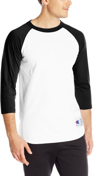 98a33b10 Champion Men's Raglan Baseball T-Shirt, White/Black, Small. by Champion,  Sportswear - Be the first to rate this product