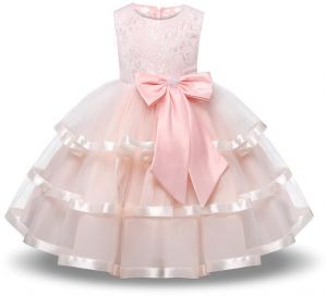 04e078cdf5f PInk Flower Girl Party Dress Girls Elegant Tulle Wedding Princess Gown  Pageant Dresses Girls Tutu Dress Pastel Princess Girls Birthday Party Dress  Children ...