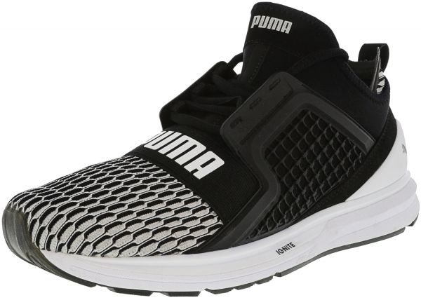 6aae3a9a082a Puma Men s Ignite Limitless Black   WHite ankle-High Basketball Shoe ...