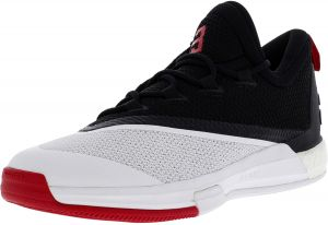 detailed look fdb00 09f3a Adidas Men s Crazylight Boost 2.5 Core Black   Scarlet Footwear White Ankle- High Basketball Shoe - 9.5M
