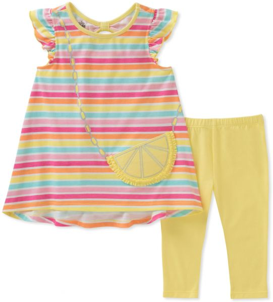 Kids Headquarters Girls Tunic Set-Capsleeves