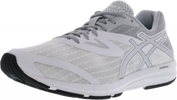 Black Asics Silver White High Ankle Amplica Shoe Running Men's 8 5m 34RA5jL