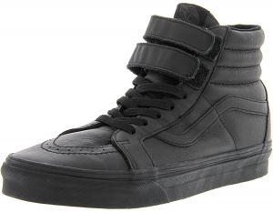 7b421c27c72f Vans Sk8-Hi Reissue V Mono Leather Black Ankle-High Skateboarding Shoe -  8.5M   7M