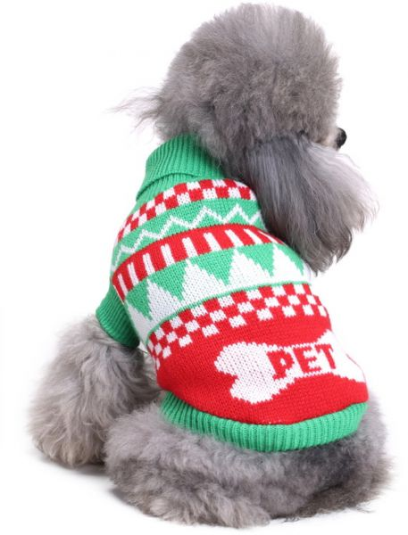 2dbaed82d863 Pet Supplies Christmas Pet Dress Up Supplies Christmas Pet Dog Clothes  Polyster Material Knit Delicate Pattern Warm Elasticity Sweater Winter  Fashion Cute ...