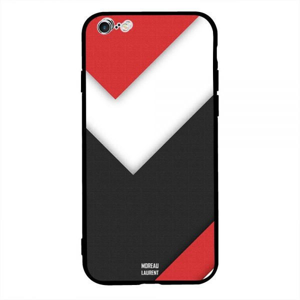 685bdf2d13f2 Apple iPhone 6S Plus Case Cover Red White Black Texture