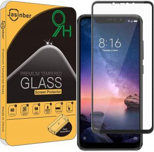 Jasinber Tempered Glass Screen Protector for Xiaomi Redmi Note 6 Pro (Black)
