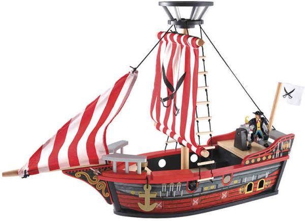 e2a33cf03034 Wooden Pirate Ship toy for kids