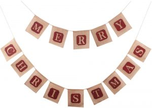 14pcs retro classic burlap merry christmas bunting new year party banner letters christmas tree flags christmas party decorationschistmas decoration for