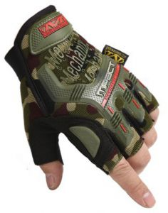 Special Forces Tactical Gloves Men's Fitness Half Finger Gloves Outdoor Sports Hiking Cycling Military Fans Camouflage Gloves