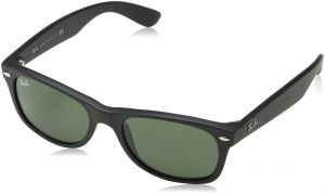 78cac482ed3 Ray-Ban NEW WAYFARER - BLACK RUBBER Frame CRYSTAL GREEN Lenses 55mm  Non-Polarized