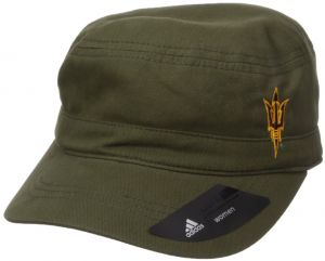 c2150f6e48bf8 adidas NCAA Arizona State Sun Devils Adult Women Army Green Military Hat