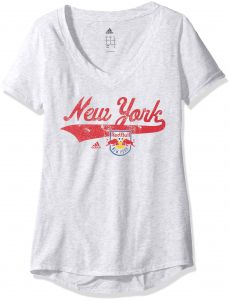38ebb116b11875 adidas MLS New York Red Bulls Adult Women Tail Stack S V-Neck Tee