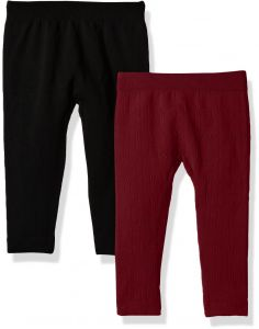 329a32b388f7 One Step Up Baby Girls 2 Pack Seamless Legging, Cabernet Red/Black, One Size