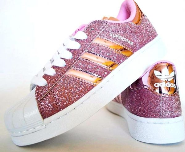 Adidas superstar fashion sneaker for women - Glitter Pink  b4034c5e1c