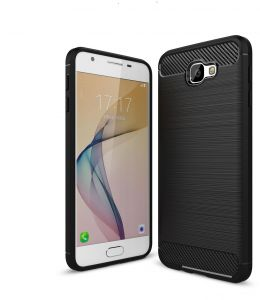 Samsung Galaxy J7 Prime case, Ultra Slim Lightweight Carbon Fiber Design Flexible Soft TPU Case Highstrength Shockproof Protective Back Cover to Protect the ...