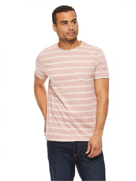 499b53b1ce2bfa Brave Soul Round Neck T-Shirt for Men - Light Pink
