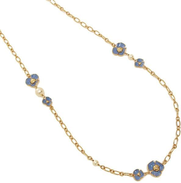 b82f4f8c4329 Tory Burch Fleur Rosary Chain Necklace - Blue Gold