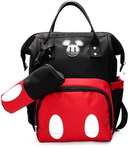 Mickey Backpack Multi Function Large-capacity Mummy Bag Pregnant Women Out Travel Backpack Maternal and Child Package Unisex Out Baby Diaper Tote Bag