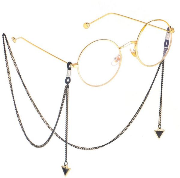 a656fa2757f1 Fashion Womens Gold Eyeglass Chains Sunglasses Reading Crystal Beaded  Glasses Chain Eyewears Cord Holder neck strap Rope