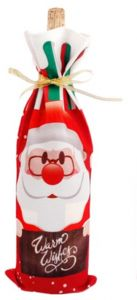 Christmas Wine Bottle Decor Santa Claus Bottle Cover Clothes Kitchen