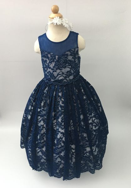 a634b252a9d Cuts   Fits Pearl Lace Special Occasion Flower Girl Dress for Girls ...