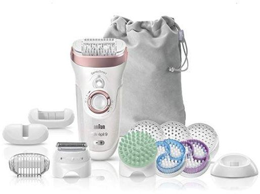Braun Silk-epil 9 9/990 SkinSpa SensoSmart Epilator Rose Gold 4-in-1 Beauty set Cordless Wet and Dry Epilation, Exfoliation and Skin Care System with 13 Extras