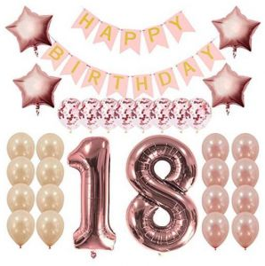 Rose Gold 18th Birthday Decorations Party Supplies Gifts For Girls Women