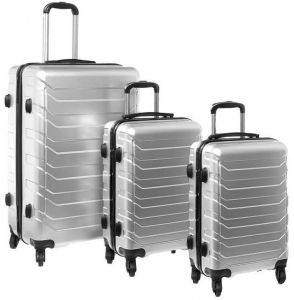 a93c56404a61 4 Wheel PC 73 Luggage 3 Pcs Set 20 inch  24 inch  28 inch - Grey