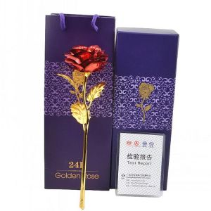 9f01a224272a Valentine s Day Creative Gift 24K Foil Plated Rose Gold Rose Lasts Forever  Love Wedding Decor souvenir