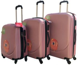 1a340bc88e60 Luggage Trolley Bags 3Pcs Trolley Set - 11460 Rose Gold