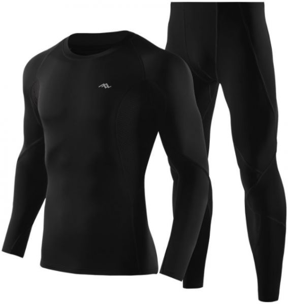 cfcb001065 Fashion Men's Sports Suit Long-sleeved tights tops Gym fitness running  training Athletes sportwear Ventilated,quick dry Compression clothes Yoga  gym outfit ...
