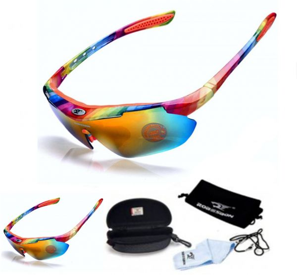 66f6092db64 UV400 Cycling Sunglasses MTB Road Sport Driving Fishing Hiking Bike Bicycle  Eyewear Protection Glasses Goggles Men Women Unisex Gafas Cicismo (Rianbow)