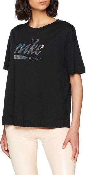 Nike Sportswear Schwarz Metallic Crop Top for Women