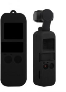 Silicone Cover Case Sling Strap combo For DJI Osmo Pocket 3-axis stabilized handheld MiNi camera Handle Gimbal black