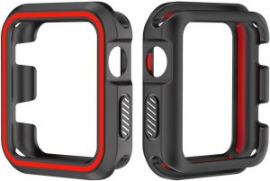 da6b927750d Latest Advance Sports Dual Colors Silicone Case Protective Cover For Apple  Watch iWatch 4 3 2 1 42mm Box size 9.1cm x 6.8cm x 1.5cm Black and Red  [awdsales]