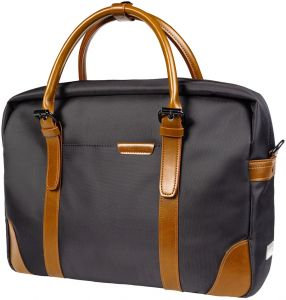 ee702bbbc6a2 Dpark Wuya Laptop Briefcase with Leather Trim