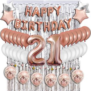 21th Birthday Decorations Party Supplies Sweet 21 Balloons